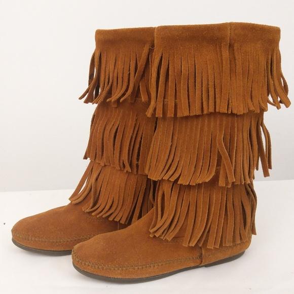 Minnetonka Moccasin Boots Mid Calf